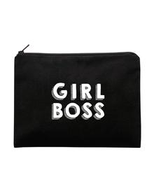 GIRL BOSS Multi Purpose Pouch (Cotton Canvas, 20x13cm, Black)