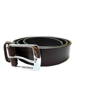 Leather Belt Brown Plain 38mm