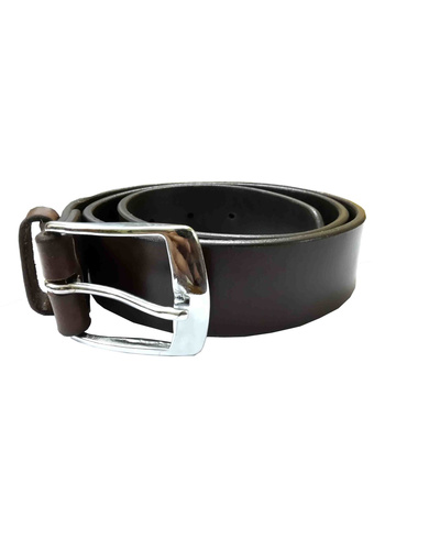 Leather Belt Brown Plain 38mm-AMA-B5645-BROWN-42