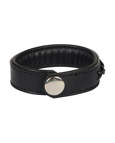 Leather Armbands Black with Black Leather Cord Braiding Decoration-21CM-2