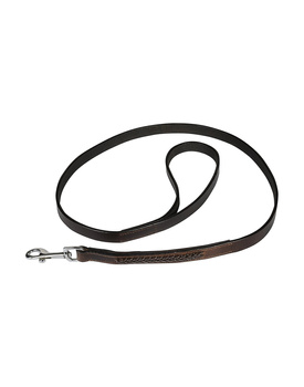 Leather Dog Lead Brwon 1.2Mtr Brown Leather Cord Decorated