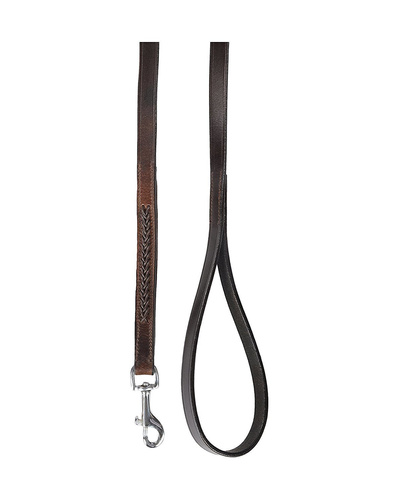 Leather Dog Lead Brwon 1.2Mtr Brown Leather Cord Decorated-1.2MTR-1