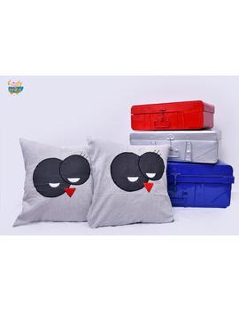 Snow Man Cushion-CS0044-Black-sm