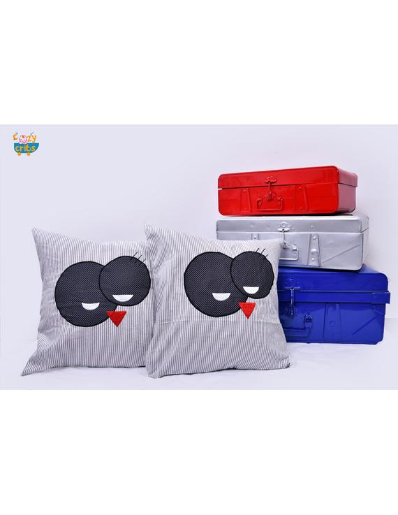 Snow Man Cushion-CS0044-Black