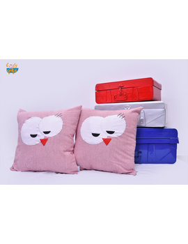 Snow Man Cushion-CS0044-Pink-sm