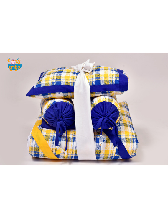 Baby Bedding  5 pieces set Yellow Abstract With pillow-5P0017-WP