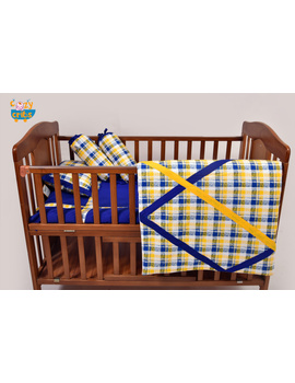 Baby Bedding  5 pieces set Yellow Abstract With pillow-1-sm