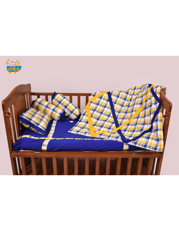 Baby Bedding  5 pieces set Yellow Abstract With pillow-2