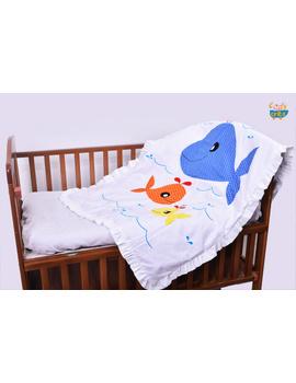 Precious The cute Whale Quilt-Q024-sm