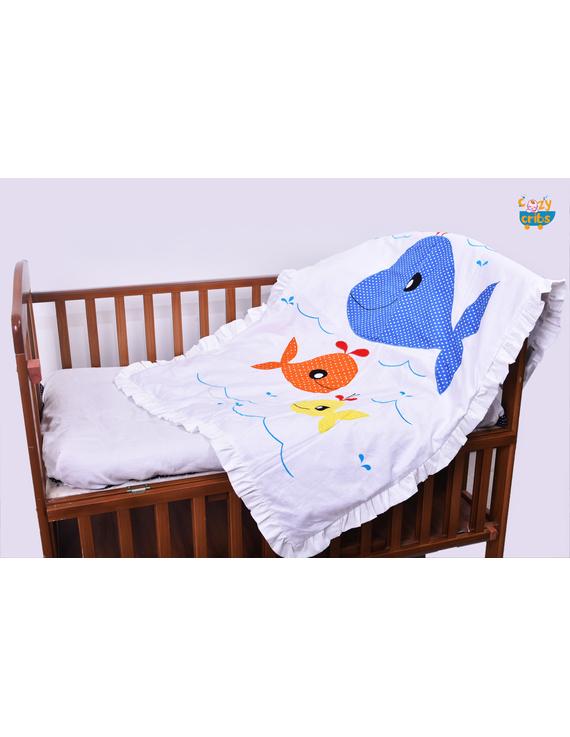Precious The cute Whale Quilt-Q024
