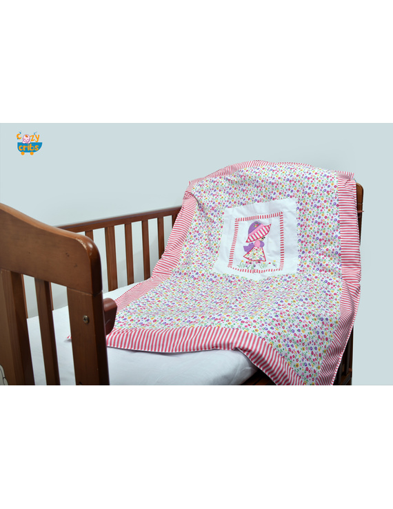 The Floral Doll Quilt-Q040