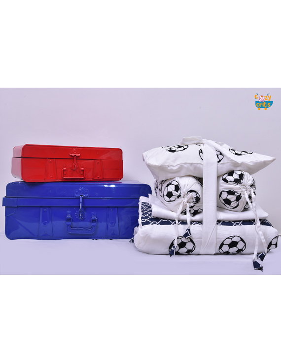 Baby Bedding  5 pieces set Football With pillow-1