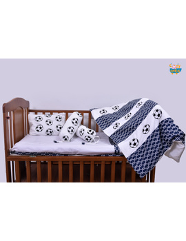 Baby Bedding  5 pieces set Football With pillow-5P0052-WP-sm
