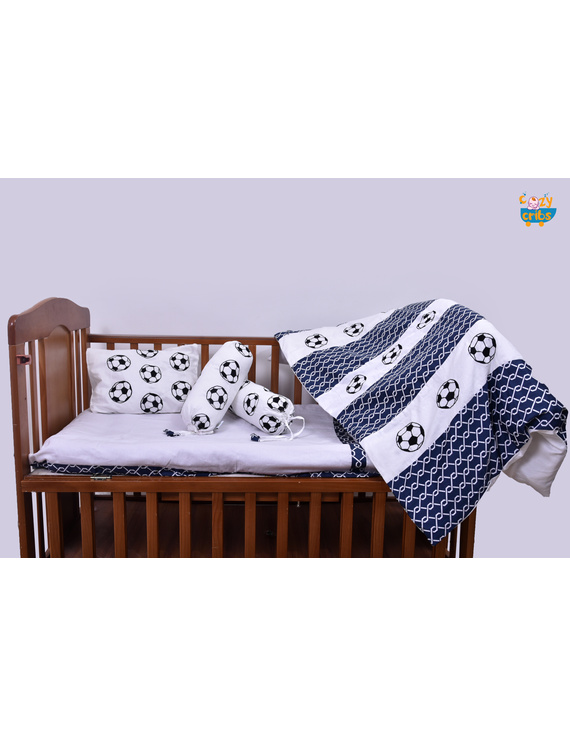 Baby Bedding  5 pieces set Football With pillow-5P0052-WP