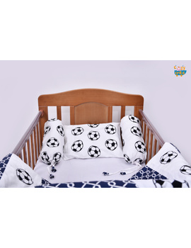 Baby Bedding  5 pieces set Football With pillow-2-sm