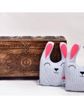 Smiley Rabbit Cushion (Custom)-CS0011CUS-sm
