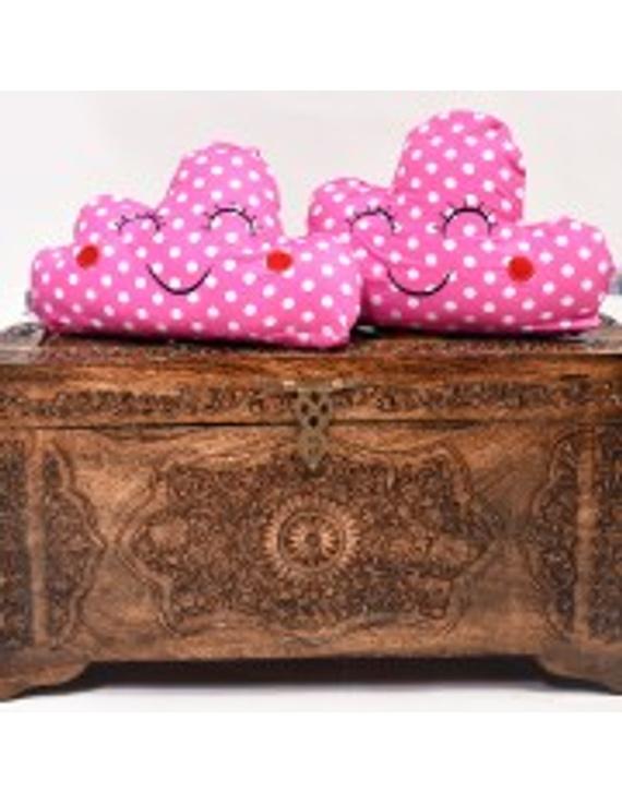 Pink Blocks Cushion (Custom) Pack of : 1 Piece-CS0019CUS