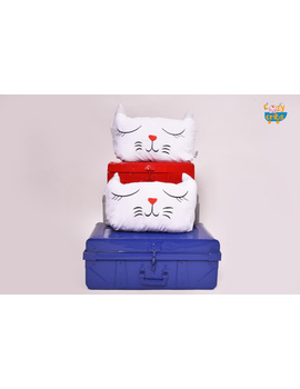 White Topsy Cushion (Custom) Pack of : 1 Piece-1-sm