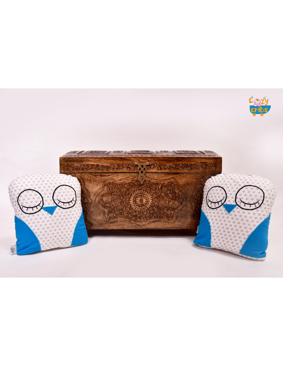 Grand paa Owl Cushion (Custom) Pack of : 1 Piece-1