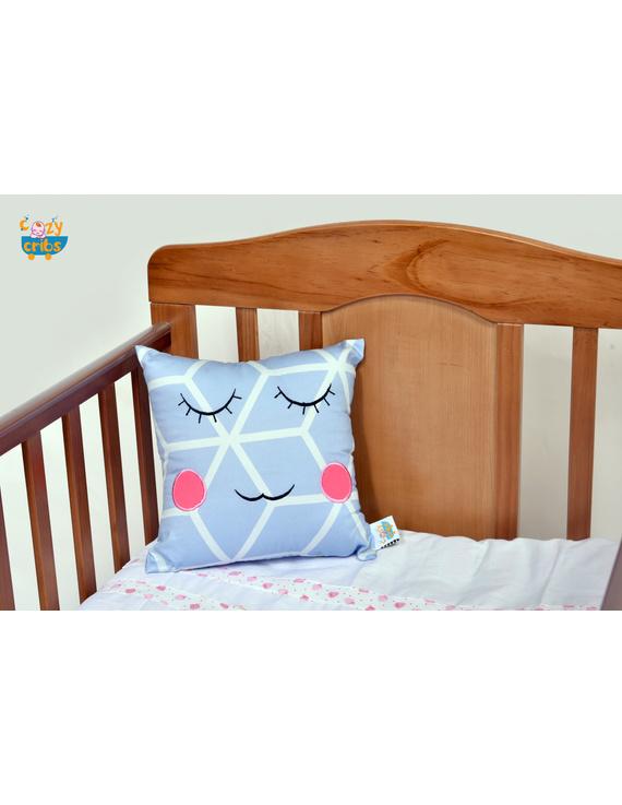 Stripes Smiley Cushion (Custom) Pack of : 1 Piece-CS0037CUS