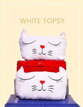 White Topsy Cushion-CS0021-sm