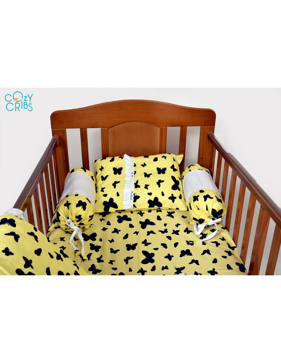 Baby Bedding  5 pieces set Blossom Butterfly With pillow-3