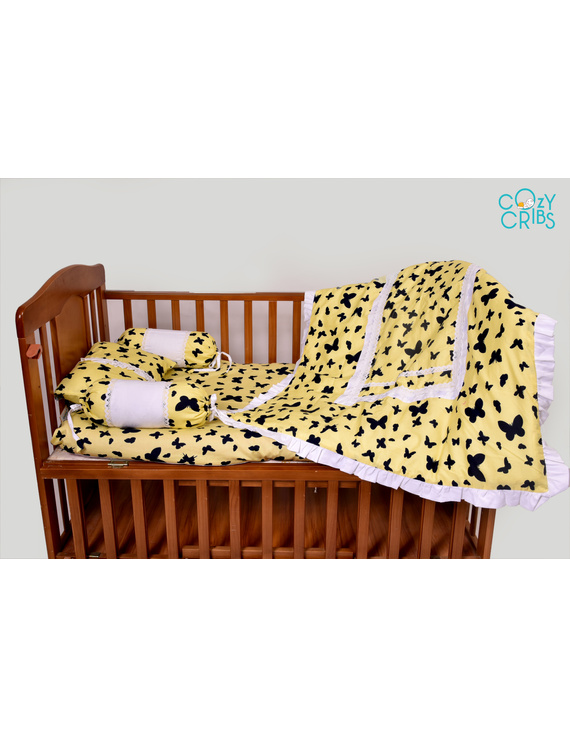Baby Bedding  5 pieces set Blossom Butterfly With pillow-4