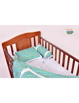 Baby Bedding  5 pieces set Blue Grappie  With pillow-3-sm