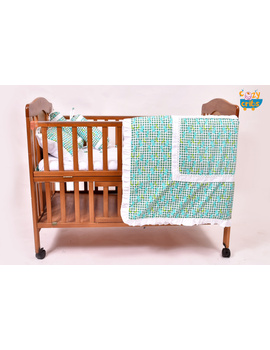 Baby Bedding  5 pieces set Blue Grappie  With pillow-2-sm
