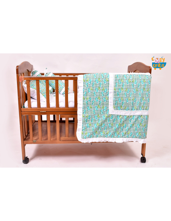 Baby Bedding  5 pieces set Blue Grappie  With pillow-2