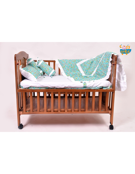 Baby Bedding  5 pieces set Blue Grappie  With pillow-1