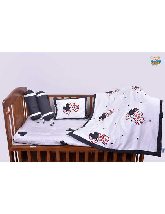 Baby Bedding  5 pieces set Love With pillow-1