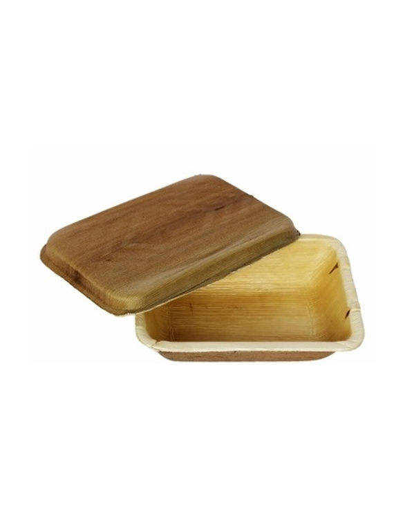 500 ml Square Areca Leaf Container Box with Lid.-5766374