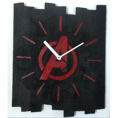 AVENGERS 10x8 inches handpainted and handcrafted wooden wall clock.-7426965624052
