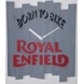 BORN TO BIKE ROYAL ENFILED 10x8 inches handpainted and handcrafted wooden wall clock.-804056339868-sm