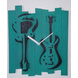 GUITAR 10x8 inches handpainted and handcrafted wooden wall clock.-804056339851-sm
