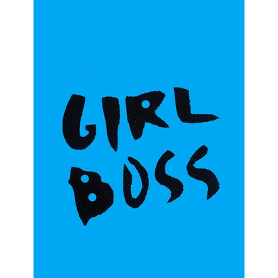 GIRL BOSS HANDPAINTED (NOT PRINTED) A5 NOTEBOOK / DIARY / NOTEPAD (75GSM / 60 PAGES EACH ) BY AGOY D-7426965624182