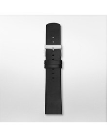 21mm Holst Leather Watch Strap, Black