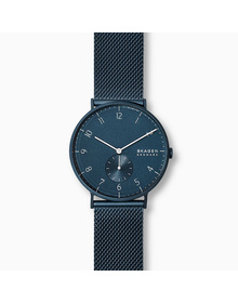 Aaren Kulor Matte Blue Steel-Mesh 40mm Watch