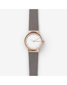 Freja Gray Leather Watch