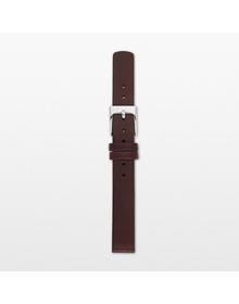 12mm Standard Leather Watch Strap, Dark Brown
