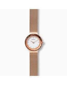 Leonora Rose Gold-Tone Steel-Mesh Watch