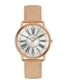 Ladies Rose Gold Tone Case Tan Genuine Leather Watch