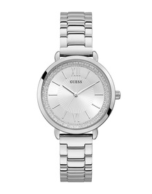 Ladies Silver Tone Case Silver Tone Stainless Steel Watch