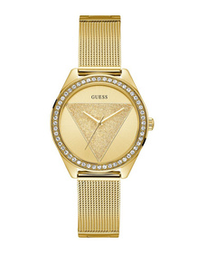 Ladies Gold Tone Case Gold Tone Stainless Steel/Mesh Watch