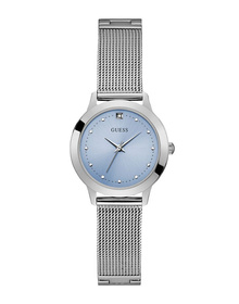 Ladies Silver Tone Case Silver Tone Stainless Steel/Mesh Watch