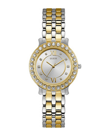 Ladies Silver Tone/Gold Tone Case Silver Tone/Gold Tone Stainless Steel Watch