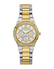 Ladies Silver Tone Case Silver Tone/Gold Tone Stainless Steel Watch