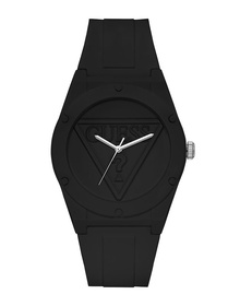 Ladies Black Case Black Silicone Watch