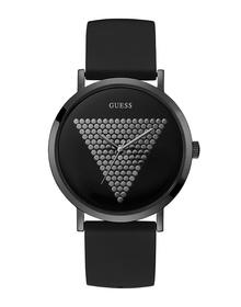 Gents Black Case Black Silicone Watch